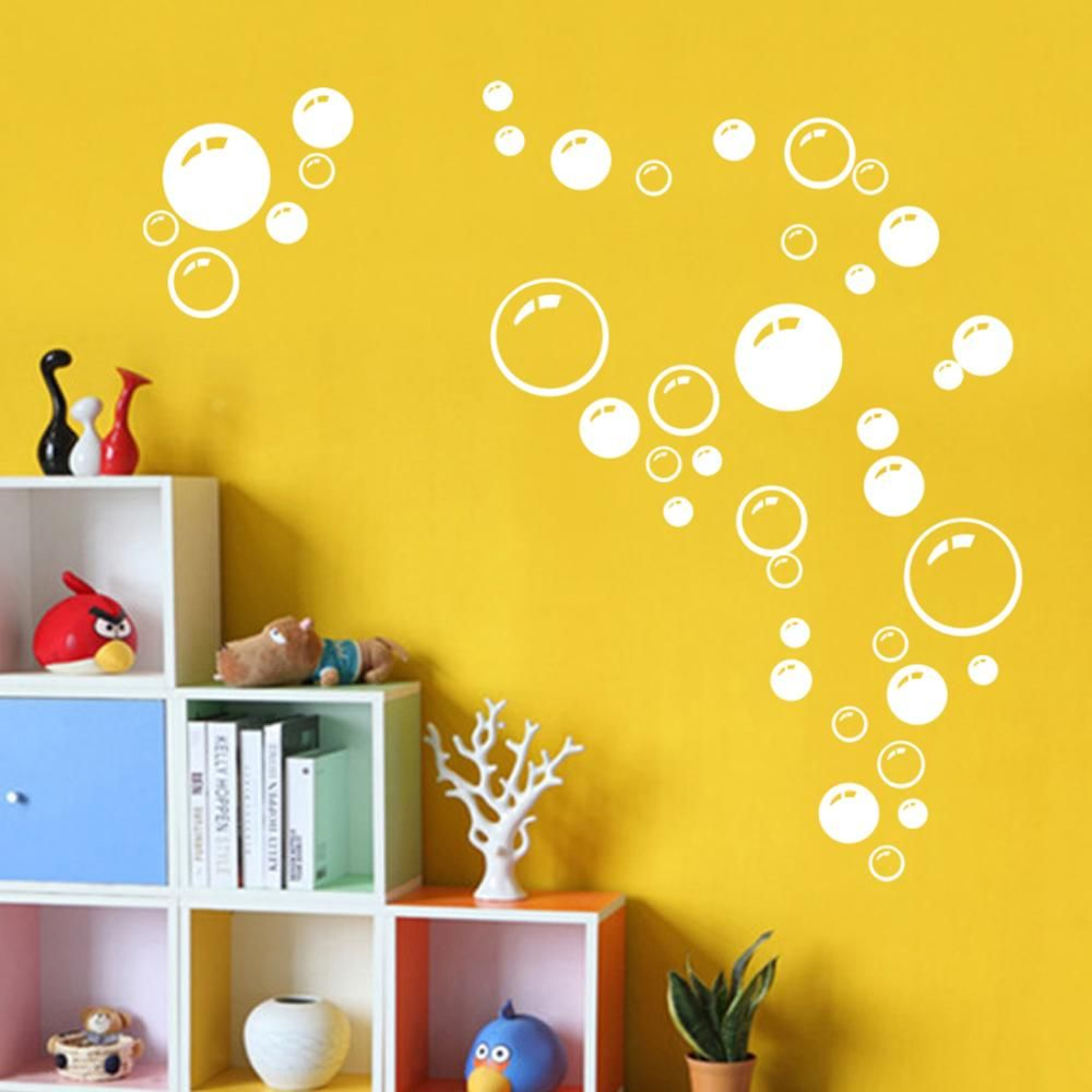 Modern Circle Bubble Pattern Bathroom Products Wall Stickers Home ...