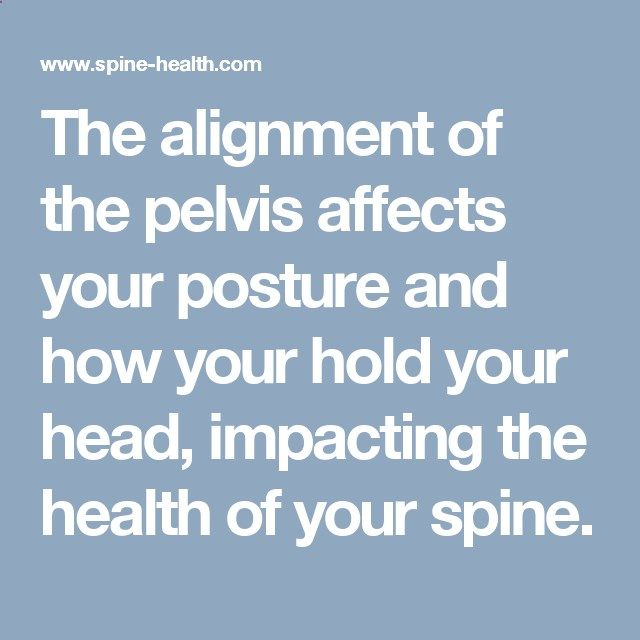 The alignment of the pelvis affects your posture and how your hold ...