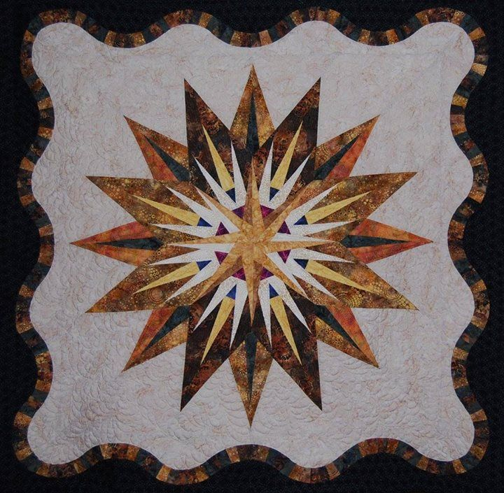 Vintage Compass ~Quiltworx.com, made by CI Lucille Amos