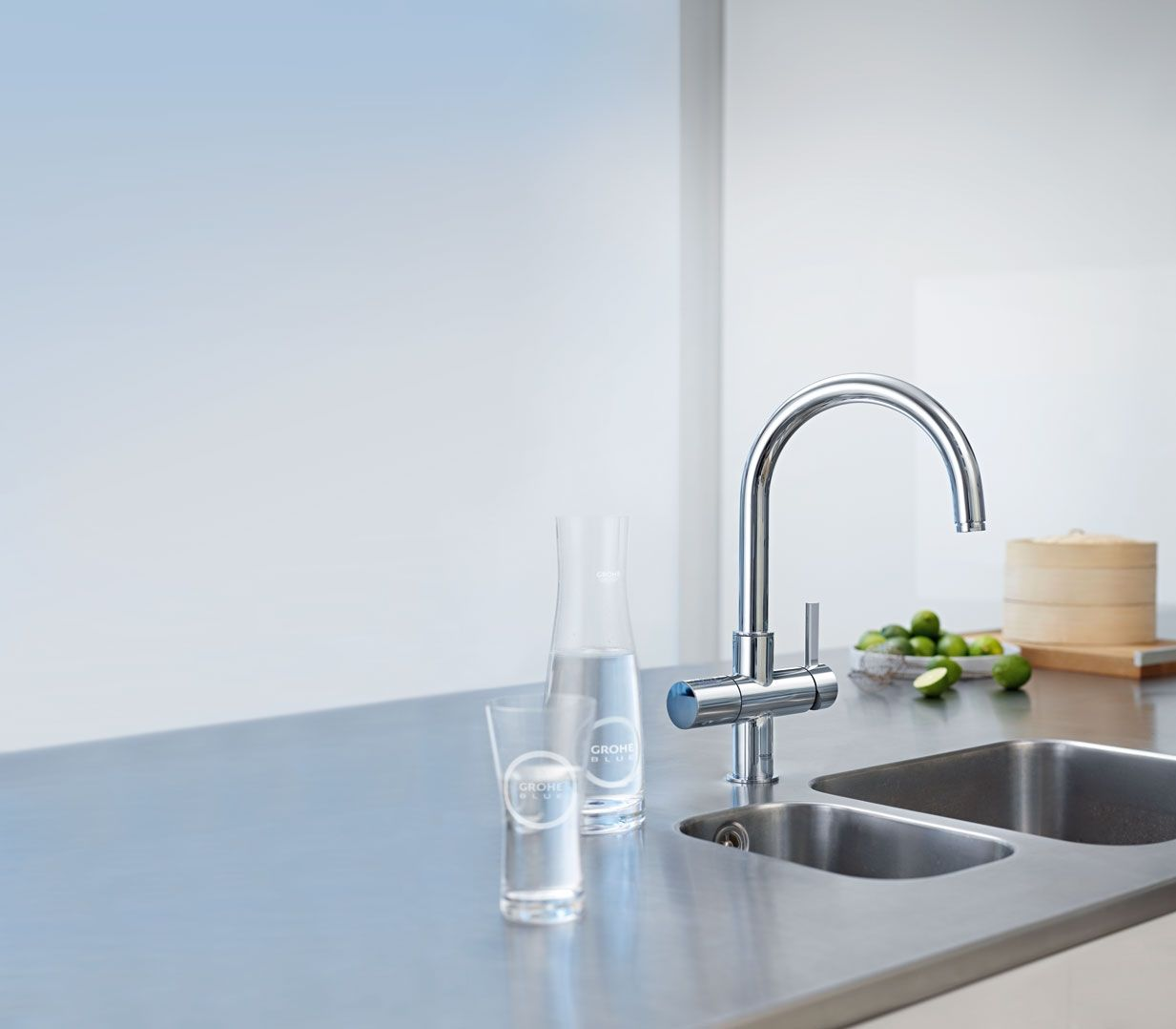 Grohe Blue Pure Is The Alternative For Purified Still Water Straight From Your Kitchen Faucet