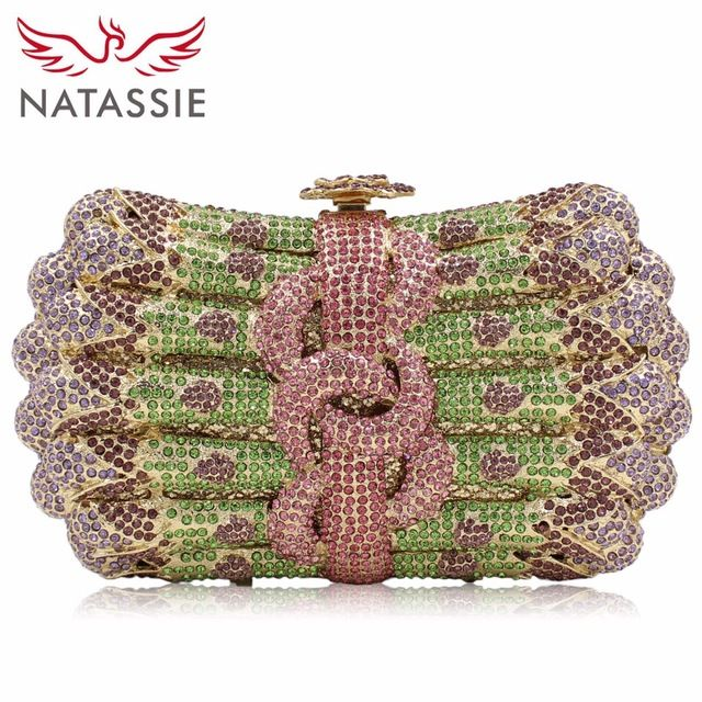 Good price NATASSIE Women Evening Bags Ladies Crystal Clutch Bag Female  Gold Silver Wedding Party Purses just only  56.99 with free shipping  worldwide ... 9f1a54142b940