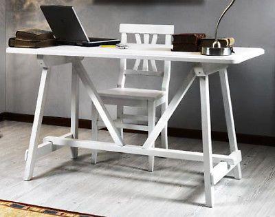 Ufficio Casa Legno : Arte nacchi tavolo scrivania legno bianco ufficio casa ho