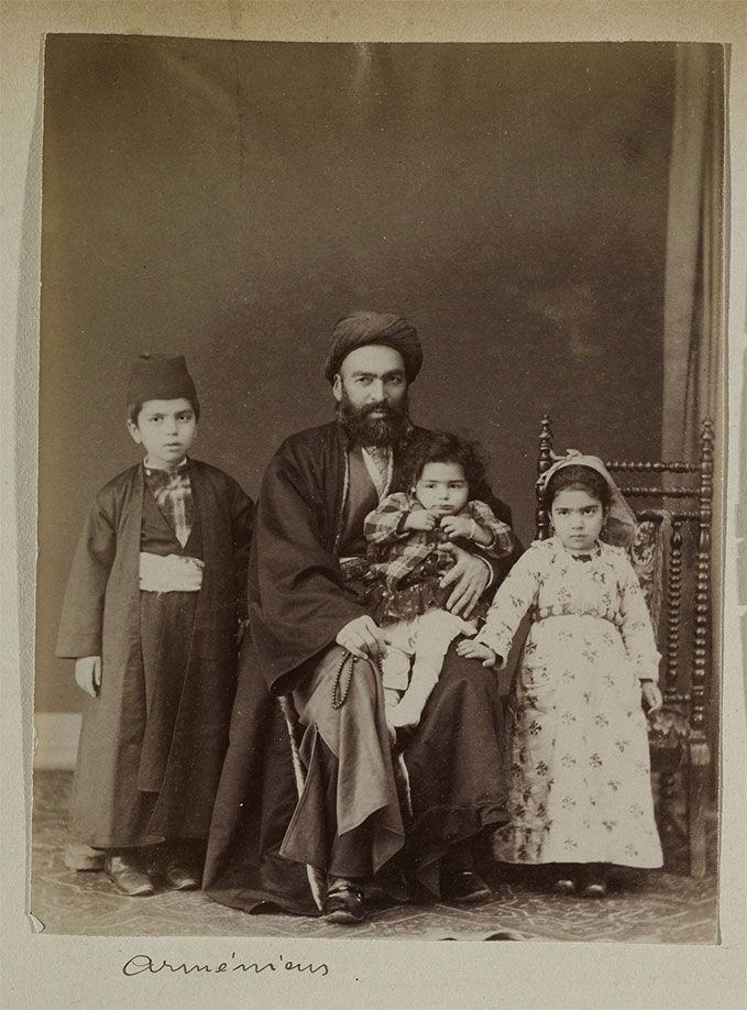 J. Pascal Sebah (Armenian, 1823-1886), Armenian Family, ca. 1880. Los Angeles, Getty Research Institute (96.R.14, Box 80)