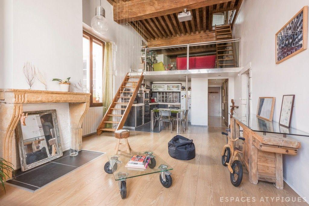 Lyon, Lyon 1er : Canut rénové en triplex - Agence EA Lyon | Espaces ...