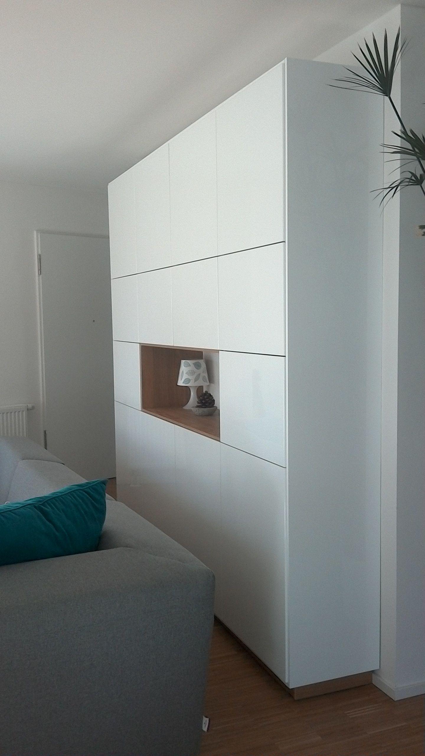 Ikea Method Ringhult plus Hyttan als Wohnzimmerschrank