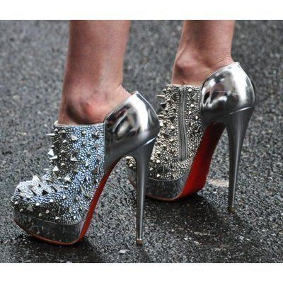 d6f18bb5ca2 crazy-hot louboutin bridgets back boots in silver  shoeporn ...