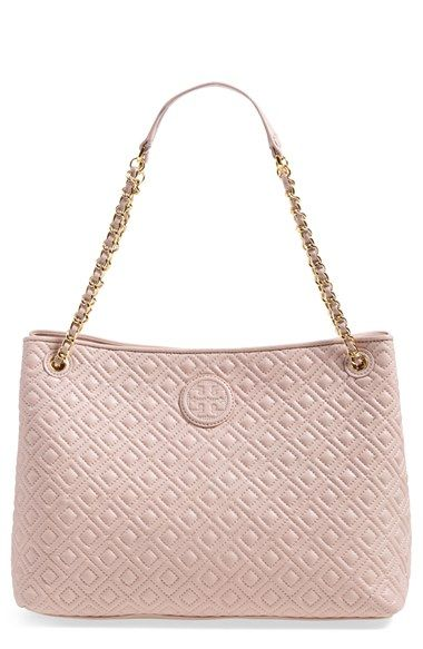 Tory Burch Marion Diamond Quilted Leather Tote Diamond