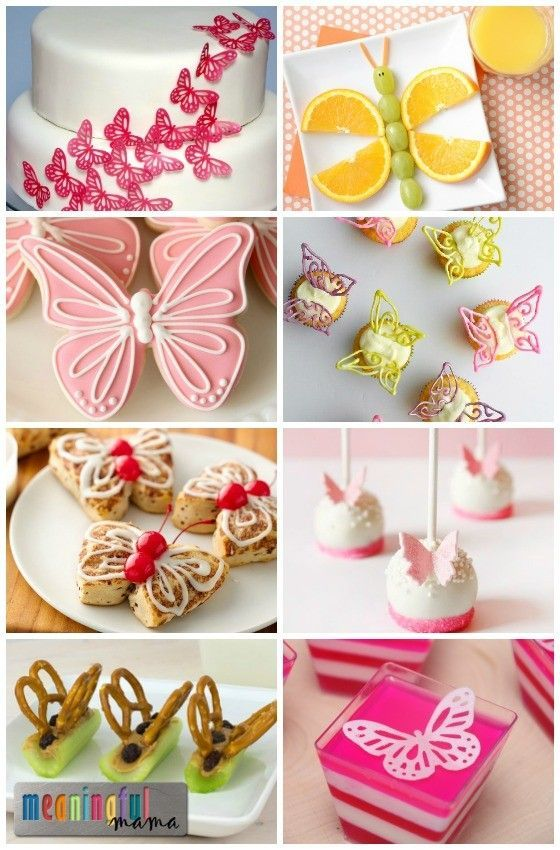 Butterfly Food Ideas - Butterfly Birthday Party Ideas - Butterfly Snacks