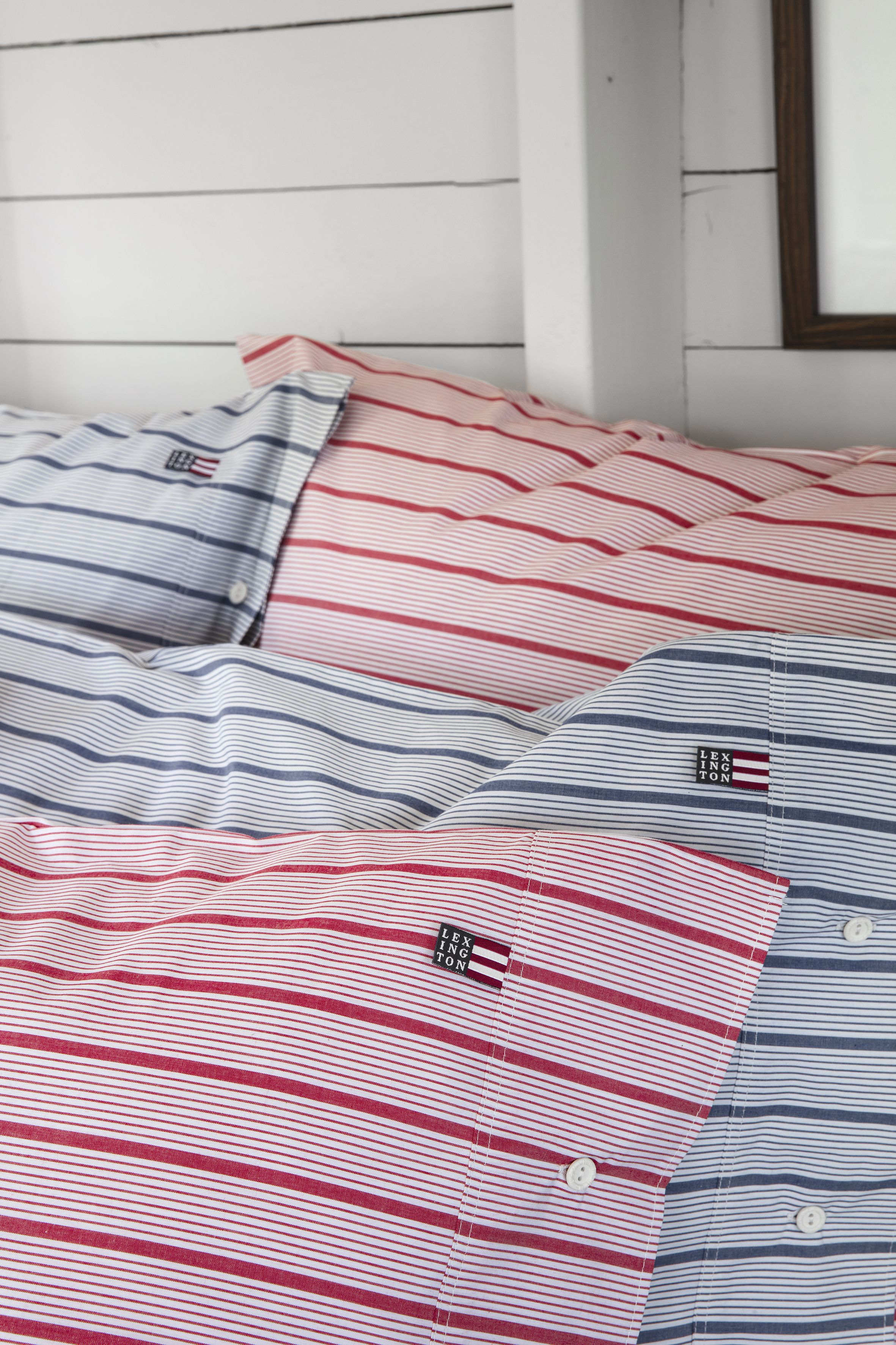 Summer Home 2018 Red Striped Poplin Pillow Nothing Evokes The Feel Of Freshness Better Than A Simple Stripe Design On Red Stripes Lexington Home Pillow Cases