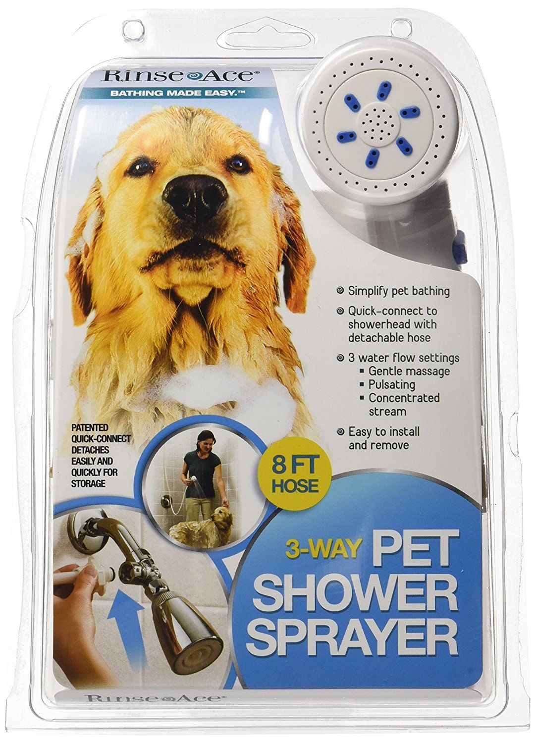 Rinse Ace 3 Way Pet Shower Sprayer With 8 Foot Hose And Quick Connect To Showerhead Review More Details Here This Is An Dog Bath Dog Shower Pets