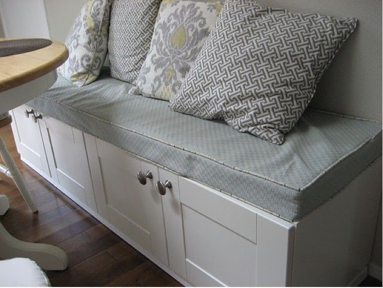 Create A Bench Out Of Two Upper Cabinets For Even More Storage. I Think W