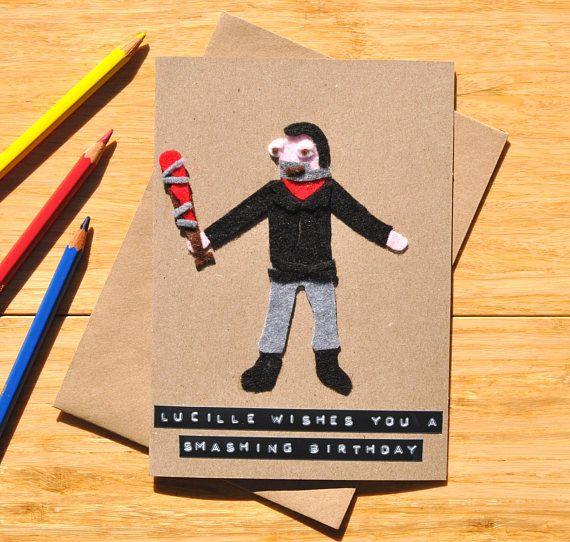 The Walking Dead Birthday Card Negan Jeffrey Dean Morgan