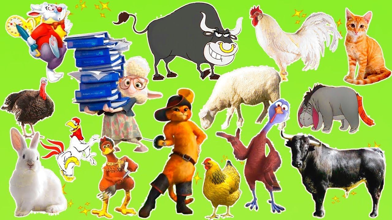 Learn Farm Animals Names and Sounds With Cartoon
