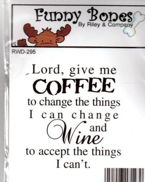 New Cling Riley  Company Funny Bones Rubber Stamp COFFEE CHANGE Free USA Ship