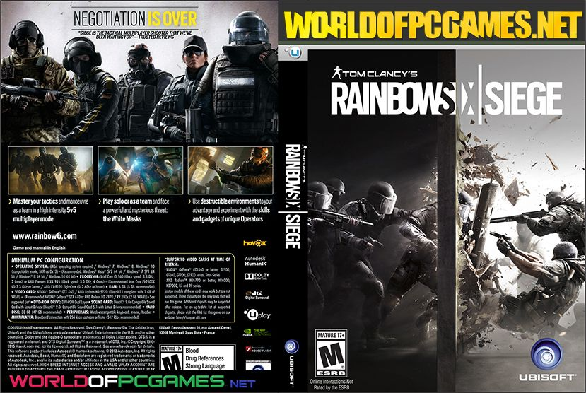 Tom Clancy S Rainbow Six Siege Free Download Pc With All Dlc Capas