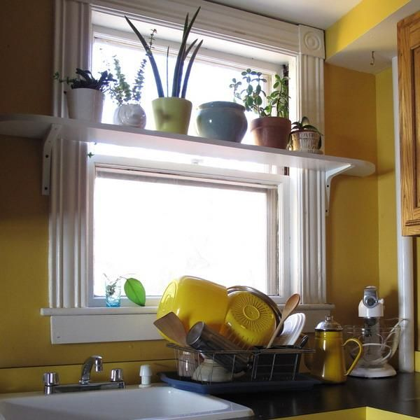 25 creative window decorating ideas with open shelves space saving ideas for small rooms - Kitchen Window Decorating Ideas
