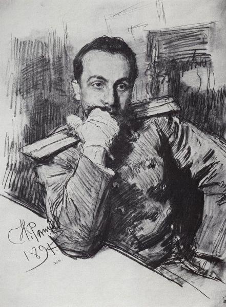 Репин И.Е. Портрет В.А. Жиркевича (1891)
