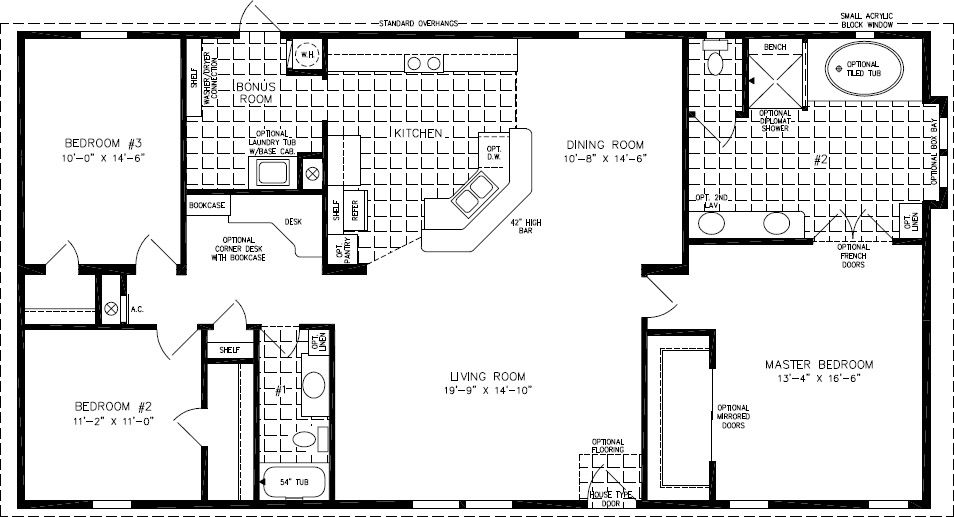Floorplans For Manufactured Homes 1600 To 1799 Square Feet Manufactured Homes Floor Plans Ranch House Plans Best House Plans