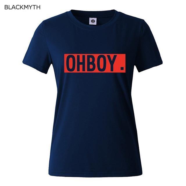 OHBOY Printing Women T-shirt Tops New Fashion Summer Style Tees T shirts Woman Harajuku White Woman Clothing