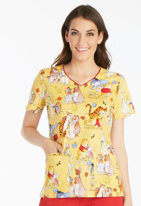 XLarge NWT    XL Disney Halloween Nurse Scrubs