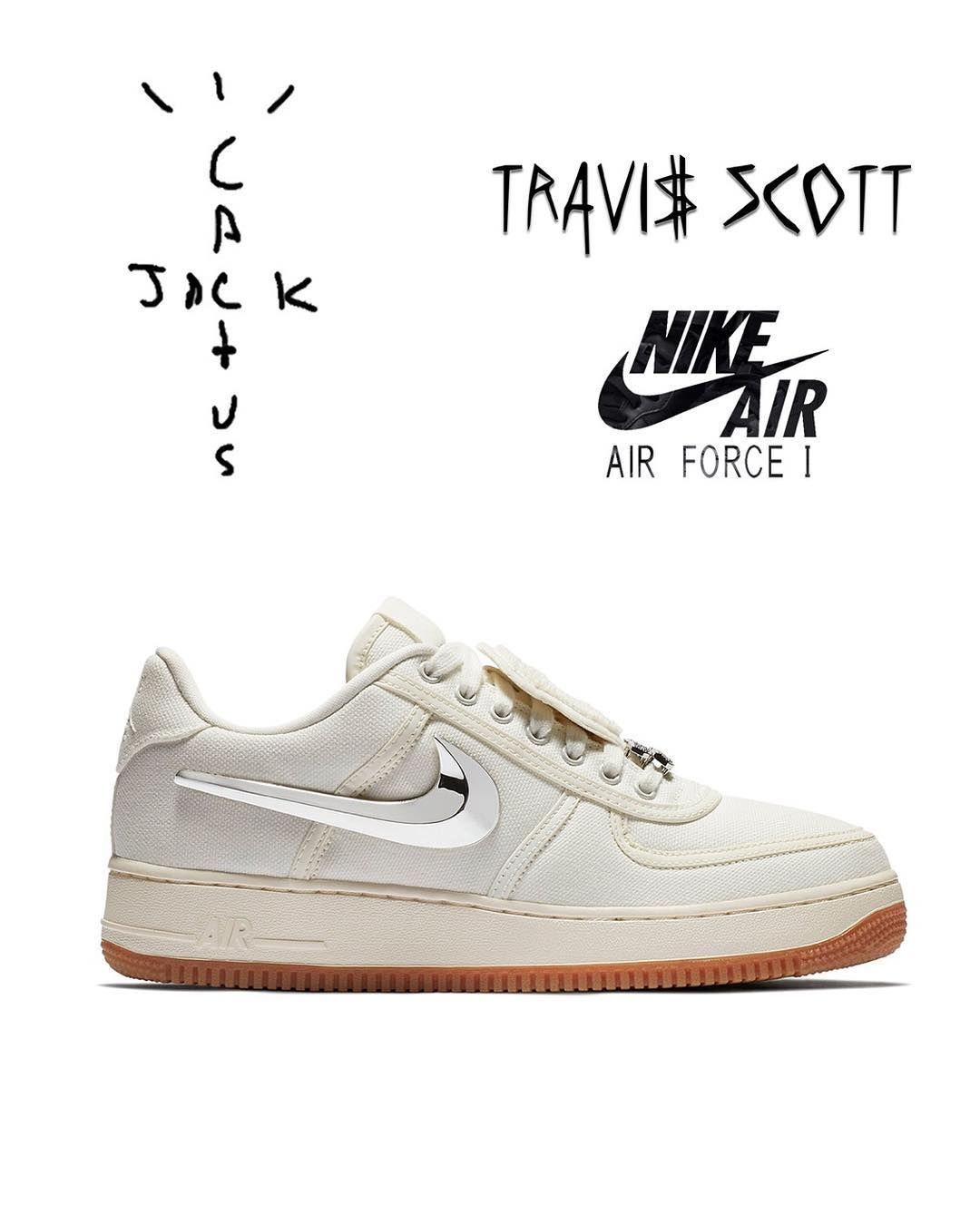 info for 0f231 631ff Travis Scott Nike Air Force 1 Cactus Jack in Sail finally releases on  August 10th . Cop or Pass