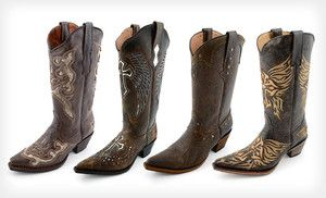 $94.99 for Gypsy Girl Leather Cowboy Boots (Up to $279.99 List Price). 23 Options Available. Free Shipping and Returns.