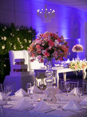 Centro de mesa decoraci n rom ntica de boda boda monica for Decoracion boda romantica