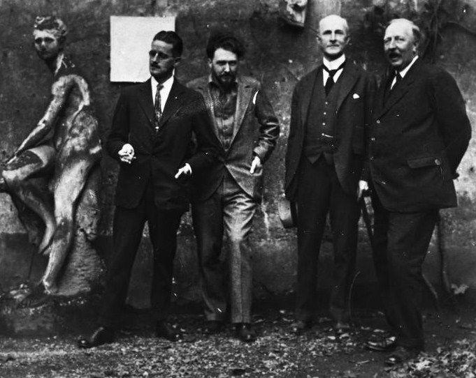 James Joyce, Ezra Pound, John Quinn and Ford Madox Ford in Paris, 1923.