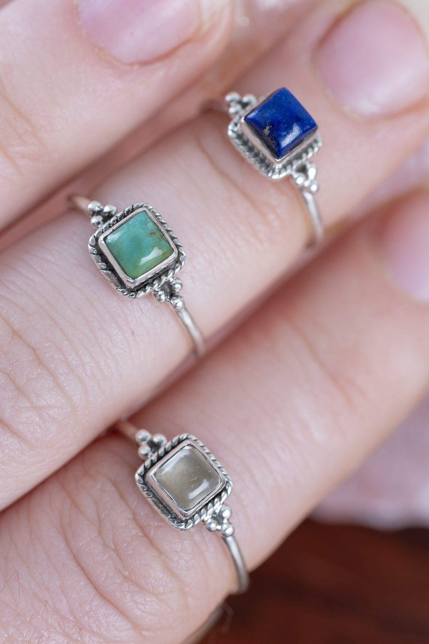 Square Gem Midi Ring Rose gold engagement ring, Vintage