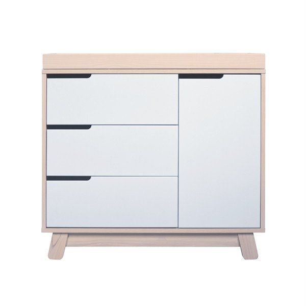Babyletto Hudson Change Table Dresser Washed Natural And White