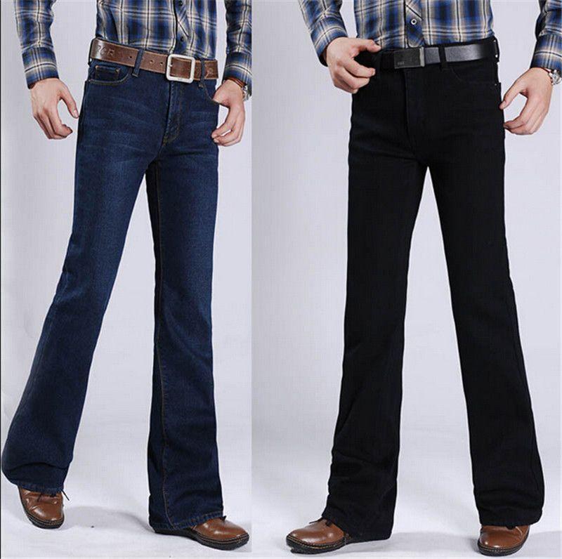Mens bootcut slim jeans