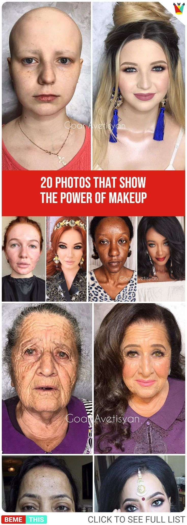 This Artist Demonstrates the True Power of Makeup photos