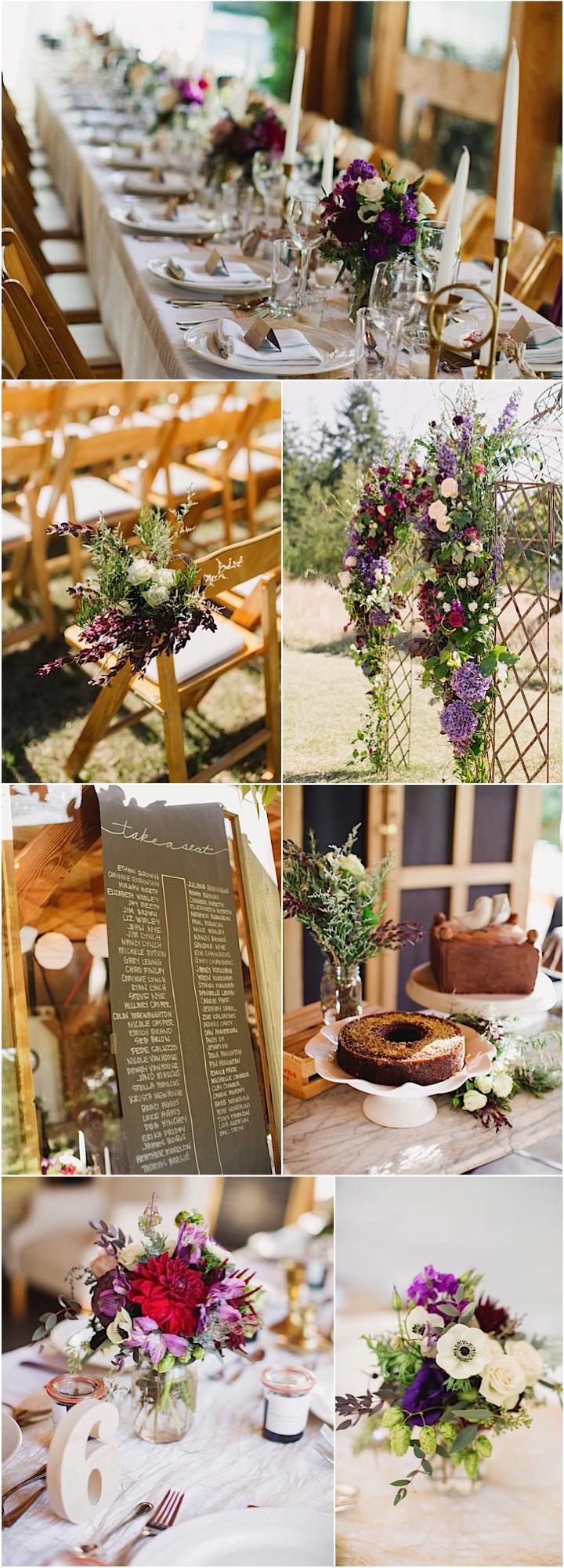 Lilac wedding decoration ideas  A Rustic Chic Washington Wedding  Purple rustic weddings Theme