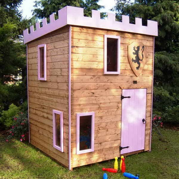decorationoutdoor castle playhouse with green plants decorating castle outdoor playhouse for your kids
