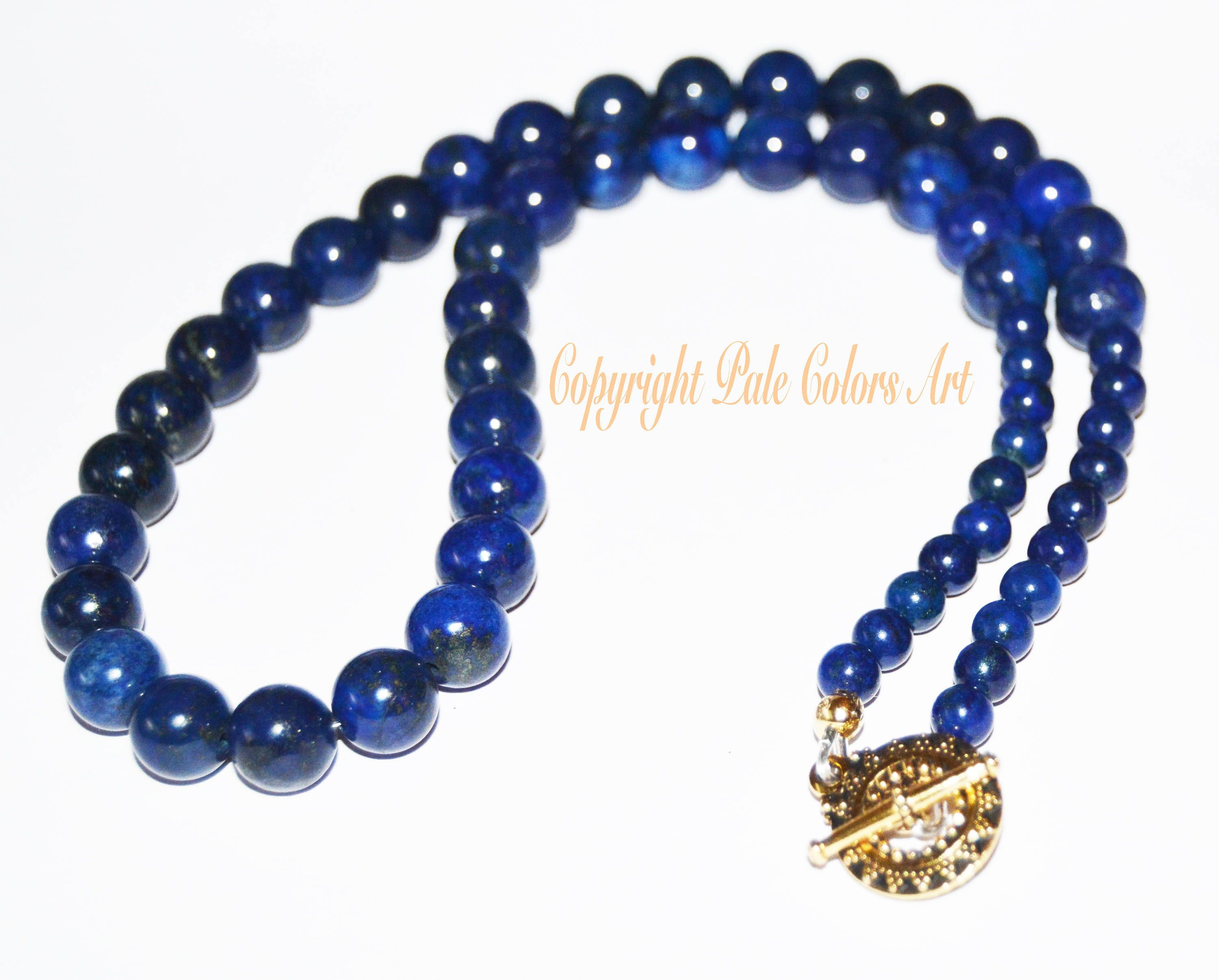 navy necklaceblue bead stone beaded necklace listing blue midnight fullxfull lapis il lazuli