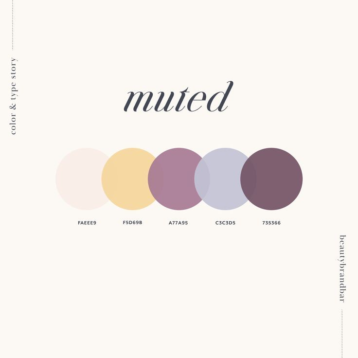 Muted Color Palette for Beauty Business #beautybranding # ...