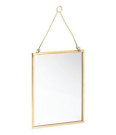 spiegel aus glas mit metallrahmen und halterung zum aufh ngen die schrauben sind nicht. Black Bedroom Furniture Sets. Home Design Ideas