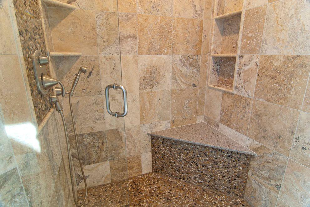 Excellent Shower Corner Shelf with Custom Shower Seat Next to Moen ...
