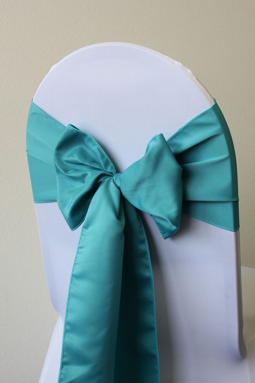 L Amour Satin Chair Sashes Turquoise Turquoiseweddings Turquoiseweddinglinens Chair Sashes Wedding Chair Sashes Beach Wedding Turquoise