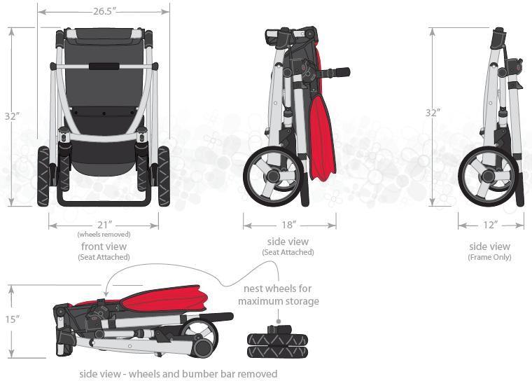 Alfa Img Showing Gt Stroller Dimensions Stroller