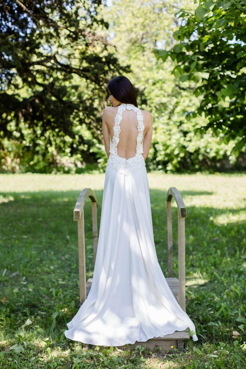 ESTERELLE Robe de mariage robe de mariée : ivoire
