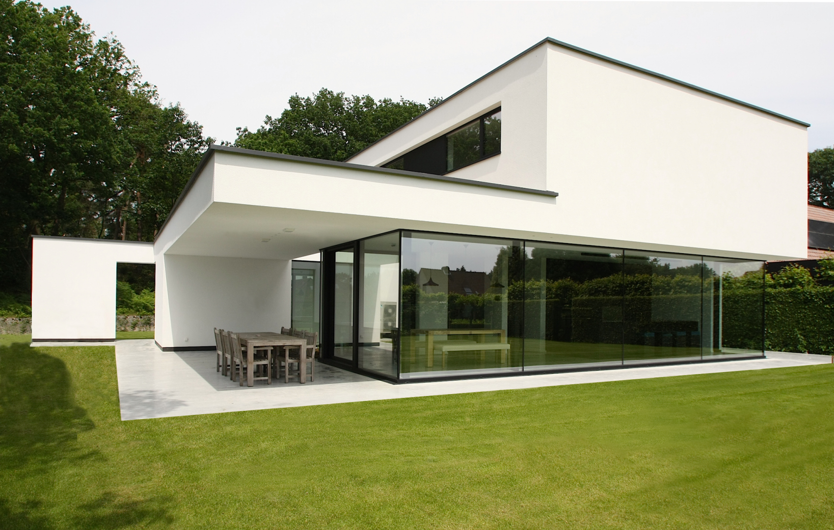 Woning b v grobbendonk concrete house architectuur for Moderne villa architectuur