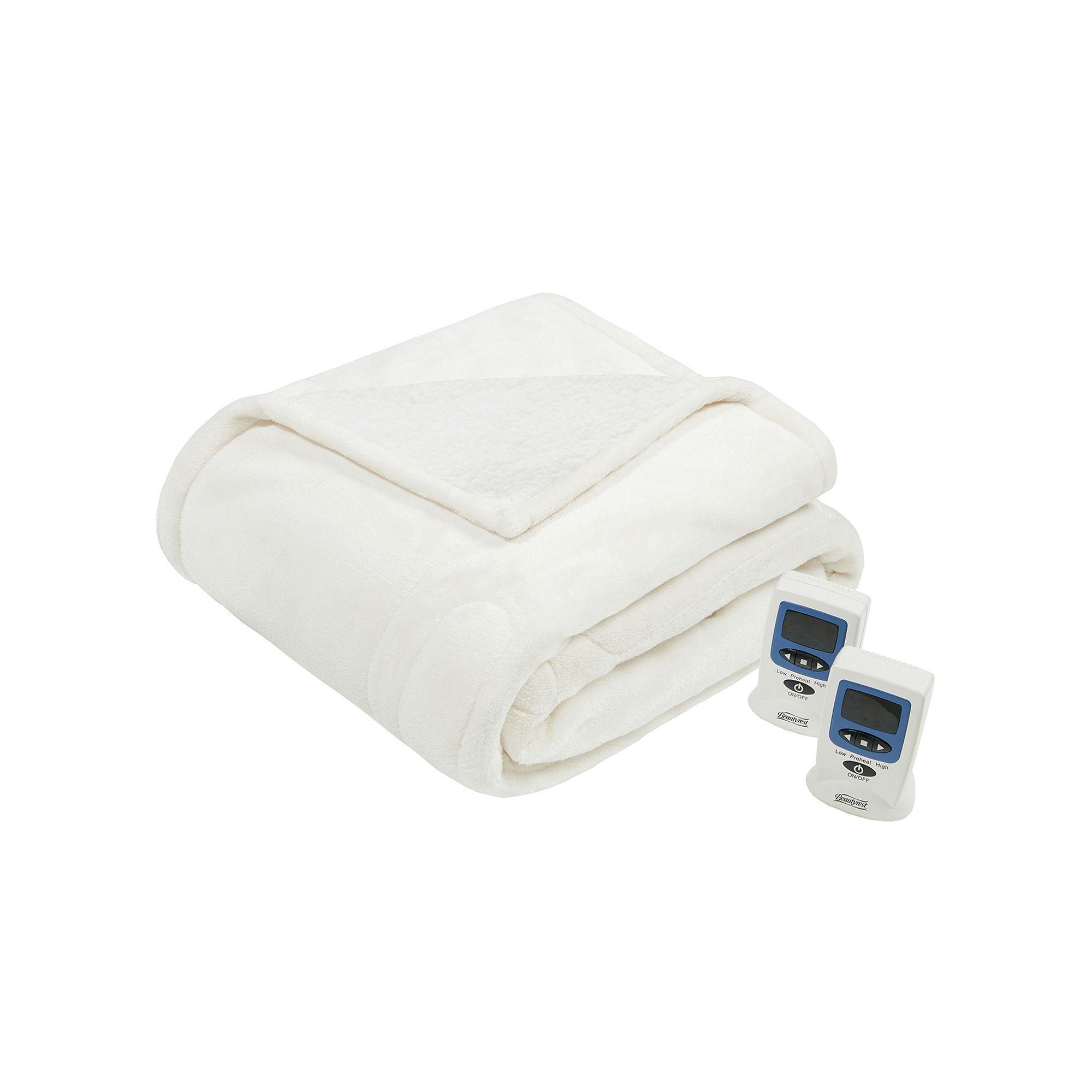 Woolrich Heated Plush Berber Blanket Heated Blanket Electric