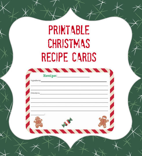 Printable Christmas Recipe Card