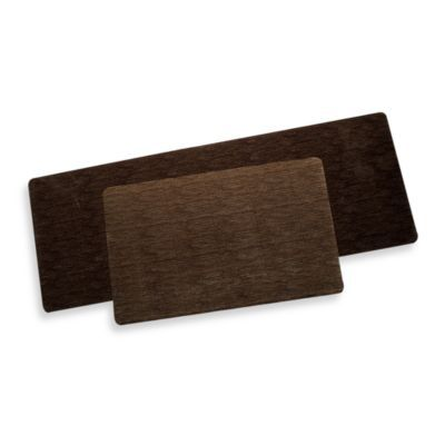 Bungalow Flooring Microfibre Neoprene Rug In Miller Brown