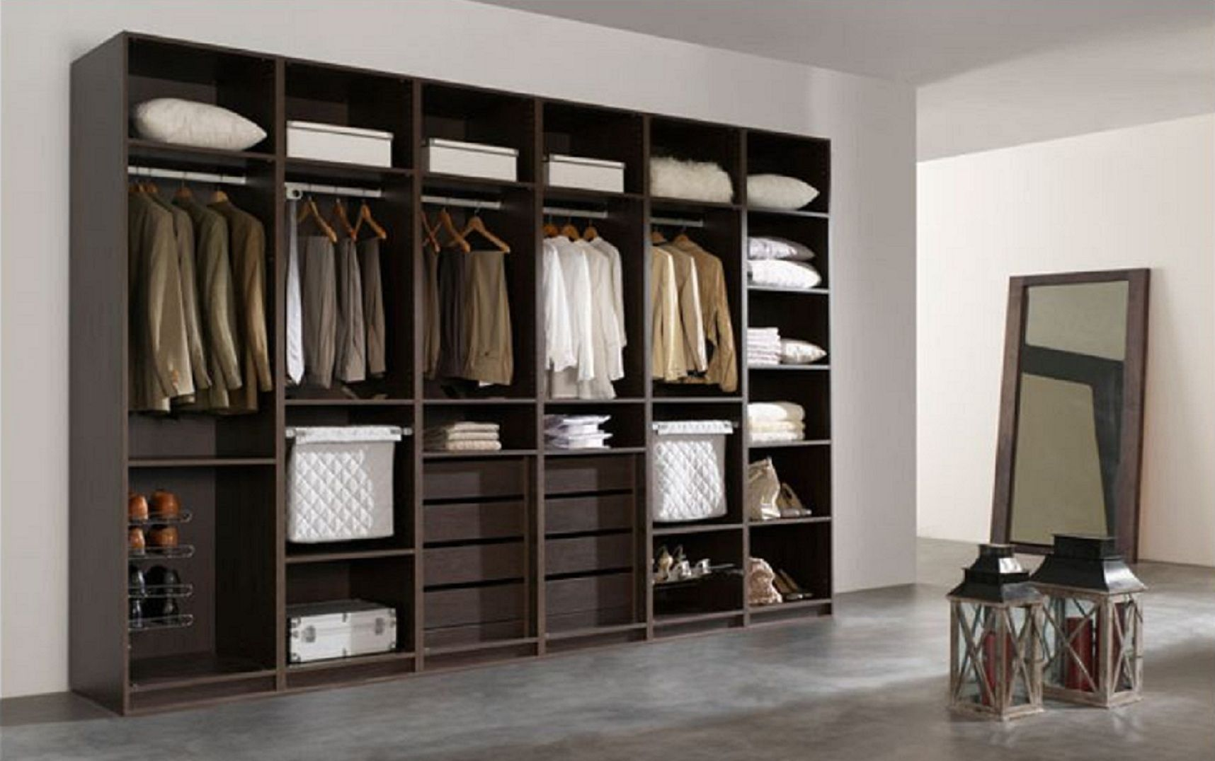 Vestidor 3 jpg 1716 1076 closet pinterest vestidor for Medidas para armar un ropero de melamina