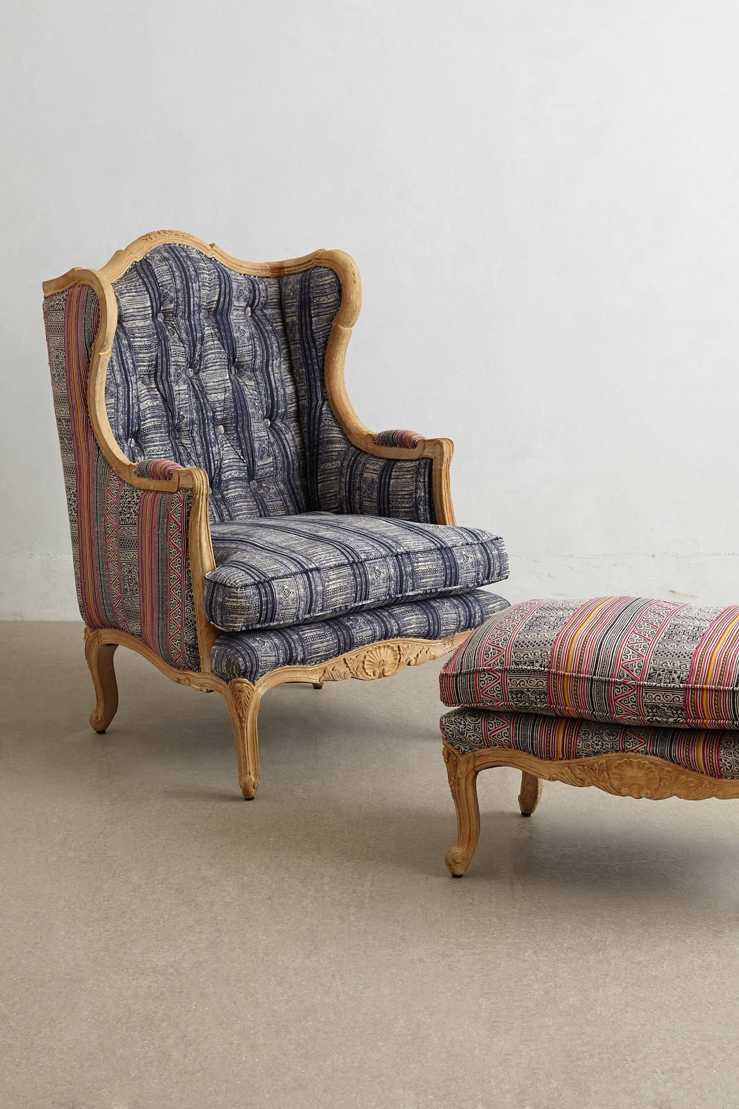 Embroidered Kaili Armchair Armchair Cottage Furniture