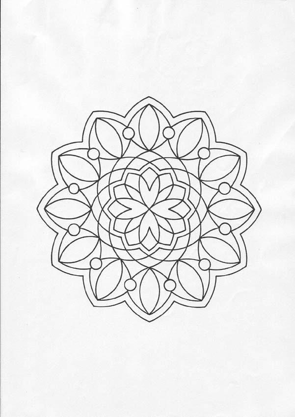 Coloriage mandala rosace et fleur. À imprimer gratuitement ou ...