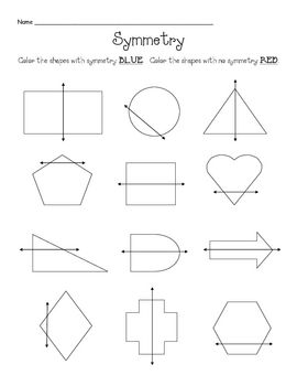 Free Symmetry Shape Colour Symmetry Math Symmetry Activities Symmetry Worksheets