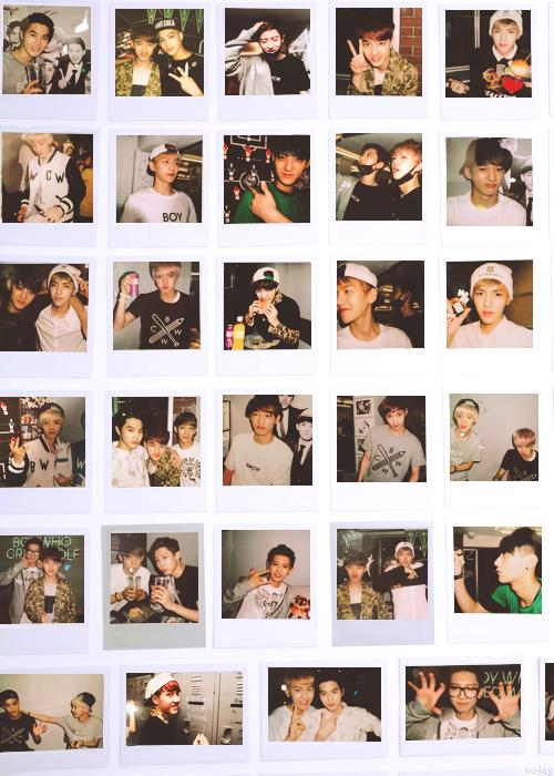 EXO polaroid at BWCW store.